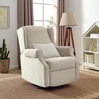 Classic Brands Expo Lovel Popstitch Upholstered Glider Swivel Rocker Chair, Shell