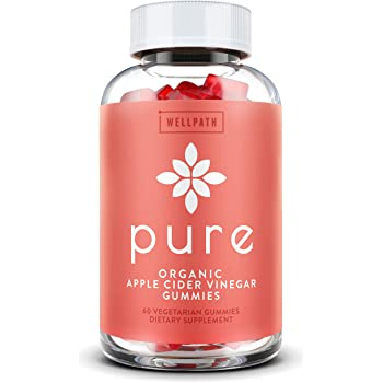 Pure Apple Cider Vinegar Gummies - with Raw, Organic, Unfiltered ACV with the Mother - Gummy Alternative to Apple Cider Vinegar Capsules, Pills, Tablets - Detox, Cleanse Support, Immunity -60 capsules