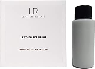 Leather and Vinyl Repair Kit with Ready to Use Color, Light Gray - Repair, Recolor & Restore Couch, Furniture, Auto Interior & Car Seats