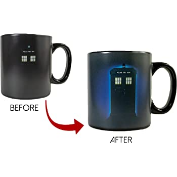 11 Oz Tea, Cocoa Ceramic Coffee Mug Culturenik 815-633 Doctor Who Exploding Tardis TV Show Van Goghs Exploding Tardis
