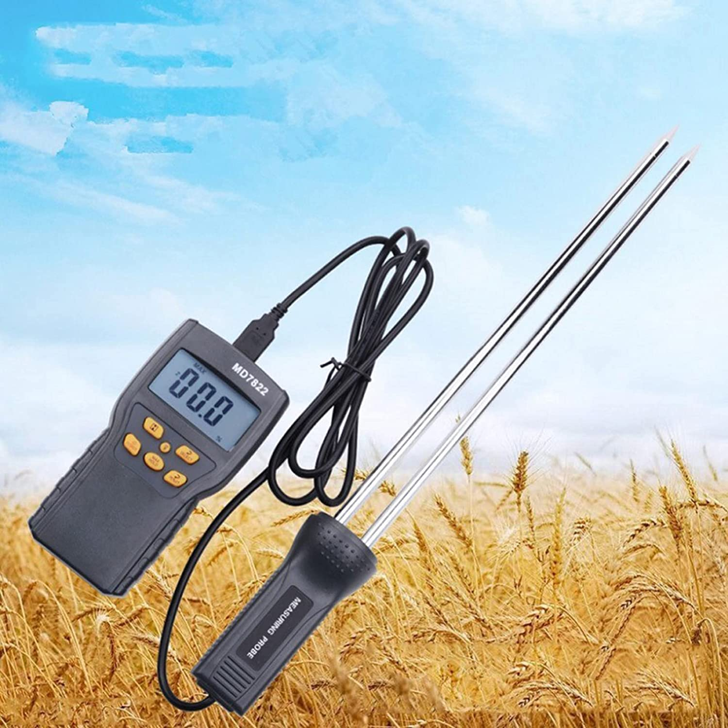Digital shop Moisture Meter Corn Probe T Tester Humidity Water A surprise price is realized Rice