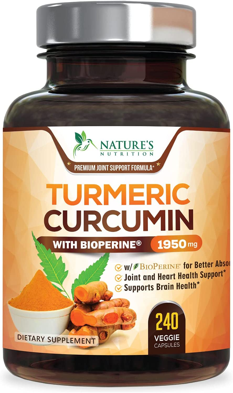 Turmeric Curcumin with BioPerine Bl shopping Curcuminoids 95% Large-scale sale 1950mg