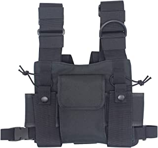 Karier Radio Chest Harness Bag Chest Front Pocket Pack Holster for Two Way Radio Walkie Talkie