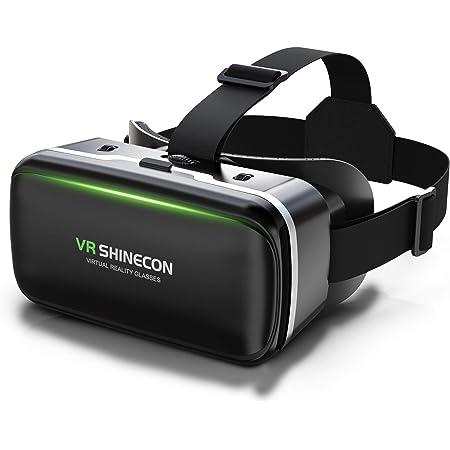 Dasimon【令和改良版VRゴーグル】VRヘッドセ0ト VRヘッドマウントディスプレイ スマホ用 ピントや目幅調整可 -6.00D近視/+2.00D遠視適用 非球面光学レンズ 眼鏡対応 ブルーライトカット 視力保護 120°超広角 装着感良い 4.7~6.5インチiPhone&androidなどのスマホ対応 軽量 1080PHD高画質 3Dメガネ 優れた通気性 自粛応援 自宅で楽しむ 日本語説明書付 入学祭プレゼント