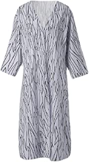 Womens Kimono Coverups Striped Open Front Long Cardigan