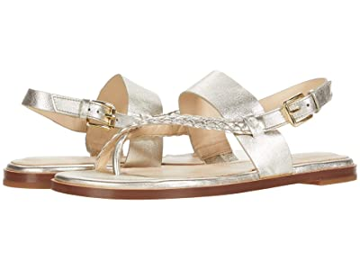 Cole Haan G.OS Anica Thong Sandal (Gold Metallic Leather) Women