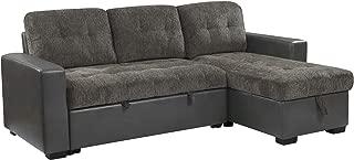 Homelegance Fabric Reversible Chaise Sofa, Gray