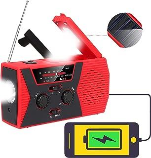 防災ラジオ 懐中電灯 Tomars ソーラーラジオ 手回しラジオ 4つ給電式 (USB充電・ソーラー充電・手回し充電・乾電池) 大容量2000mAH 全スマホ充電対応可能 SOSアラート 多機能 防水 地震 台風などの緊急に対応
