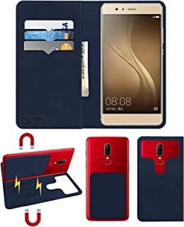 Acm Magic Magnetic 2 in 1 Leather Flip Case/Back Cover Compatible with Akshat Rivo Rhythm Rx550 Phablet Mobile Flap Navy Blue