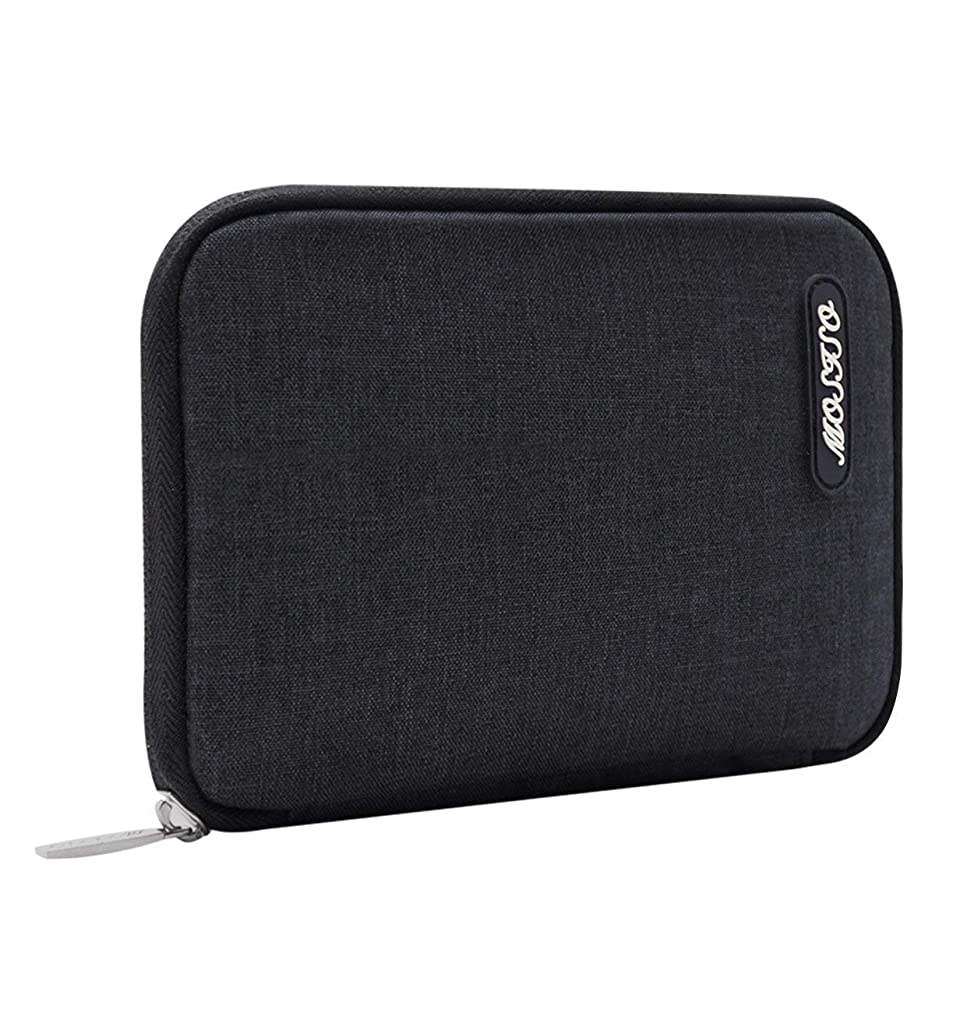 MOSISO Storage Bag Compatible MacBook Laptop Charger, Travel Electronics Accessories Organizer for Notebook Power Adapter, Hard Drive, Cable, Mouse, SSD, HDD, Charging Cord, USB Charger, Gray