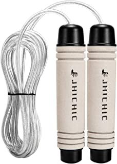Jhichic Tangle-Free Jump Rope for Workout, Adjustable...