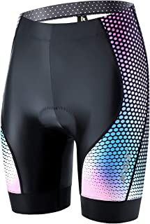 Bike Shorts Breathable Cycling Underwear 4D Gel Padded High-Density High-Elasticity SouFace Womens Quick Dry Cycling Shorts
