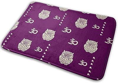Owl Purple Carpet Non-Slip Welcome Front Doormat Entryway Carpet Washable Outdoor Indoor Mat Room Rug 15.7 X 23.6 inch