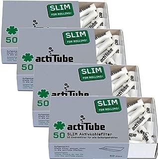 actiTube - Filtros Finos de carbón Activo (7,1 m, 4 Paquetes de 50 Unidades) Filtros de carbón Activo.