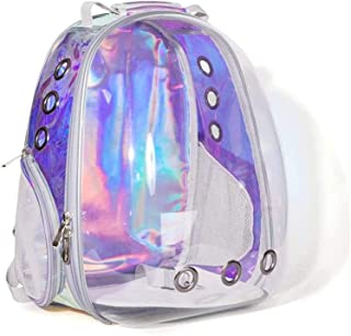 Pet Carrier Cat Dog Carrier Backpack Glare Transparent Pet Bag Go Out Carrying Bag Cat Bag Dog Bag Space Soft-Sided Carrie...