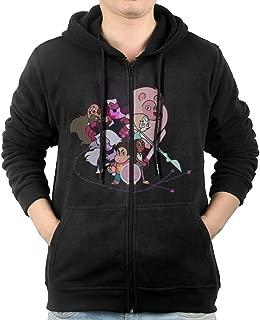 HEJX Men's Steven Universe Logo Long-Sleeve Hoodies Sweatshirt Black