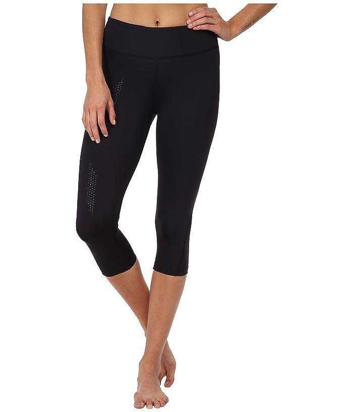 2XU Mid-Rise Compression 3/4 Tight (Black/Dotted Black Logo) Women