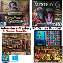 Mystery Masters 6 Pack and Adventure Chronicles 2 Pack PC Games Bundle: Amanda Rose: The Game of Time, Echoes of Sorrow Treasures of Montezuma 2, Mysteries of Horus, Book of Legends and More!