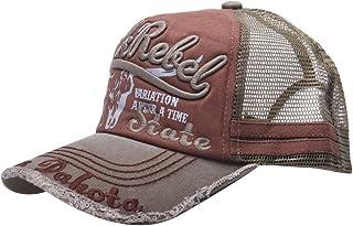 MINAKOLIFE Mens Cotton Distressed Vintage Cotton Baseball Mesh Cap Snapback Trucker