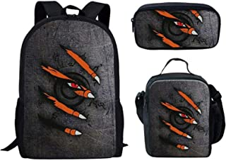 Naruto school bag set backpack for Girls, Toddler, Kids, Teen, Pink School Bookbag For Elementary Kindergarten Student, Pr...