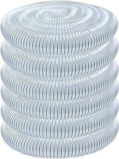 POWERTEC 70196 PVC Dust Collection Hose (4 Inch x 50 Feet) | Flexible Clear Vue Heavy Duty PVC Hose