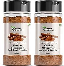 Namo Organics Ceylon Cinnamon Powder 200 GM Sprinkler | SriLankan Dalchini | Weight Loss ( Pack of 2)