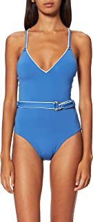 Seafolly Women's Standard Deep V One Piece Swimsuit with Belt