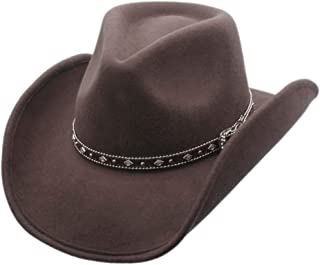 Shapeable Outback Cowboy Western Wool Hat, Silver Canyon