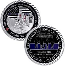 Thin Blue Line Lives Matter Police Officer Law Enforcement Challenge Coin
