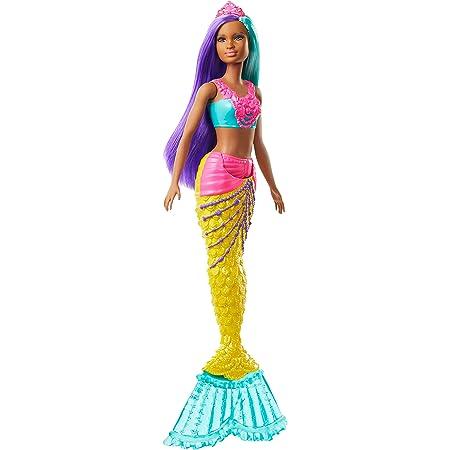 Barbie- Dreamtopia Bambola Sirena con Capelli Turchese e Viola Giocattolo per Bambini 3+ Anni, GJK10