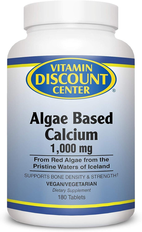 最安値に挑戦 Vitamin Discount Center Algae Based Calcium Tablets 180 新作からSALEアイテム等お得な商品 満載