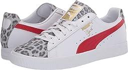 Puma White/High Risk Red