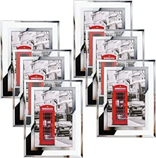 Schliersee 4x6 Picture Frame Set of 6 Home Decor Multi Glass Frames for Tabletop Display