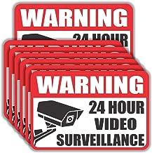 Video Surveillance Sign Sticker - (Pack of 20) 4