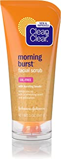 Clean & Clear Morning Burst Facial Scrub For All Skin Types, 5 Fl. Oz. (Pack of 4)