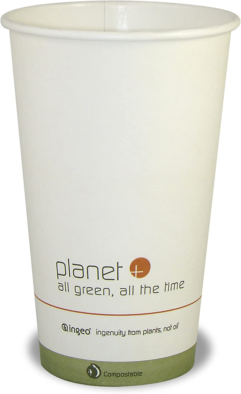 Planet + 100% Compostable PLA Laminated Hot Cup, 16-Ounce, 1000-Count Case