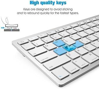 OMOTON Universal Slim Portable Wireless Bluetooth Keyboard with Function Keys Design for New iPad 10.2 8th/7th Genera...
