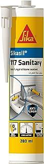 Sika Sikasil-117 Sanitary, Anti-fungal Silicone Sealant, 280ml, Transparent, 606887
