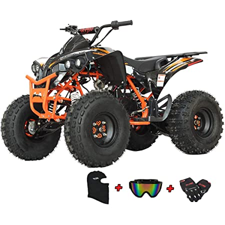 X-PRO 125 ATV Quad Kids ATV Youth ATV 4 Wheeler 125 ATV Quads Leaf Pink