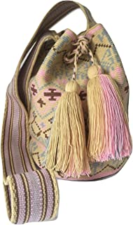 Wayuu Cute Crossbody Bags for Women Tribal Shoulder Crochet Handwoven Mochila (Large, Premium4)