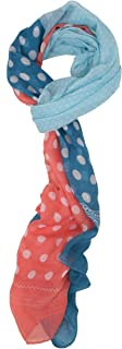 Love Lakeside-Women's Lightweight, Quality, Preppy Polka Dot or Stripe Scarf, Sarong, Cover-up, Wrap, Shawl