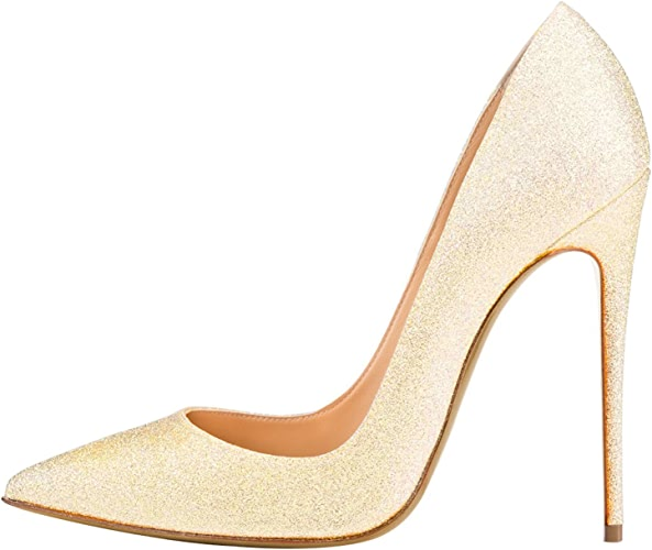 DYF AHommesde Chaussures Grande Taille Couleur Solide Forte Bouche Peu Profondes,12cm,Or,37