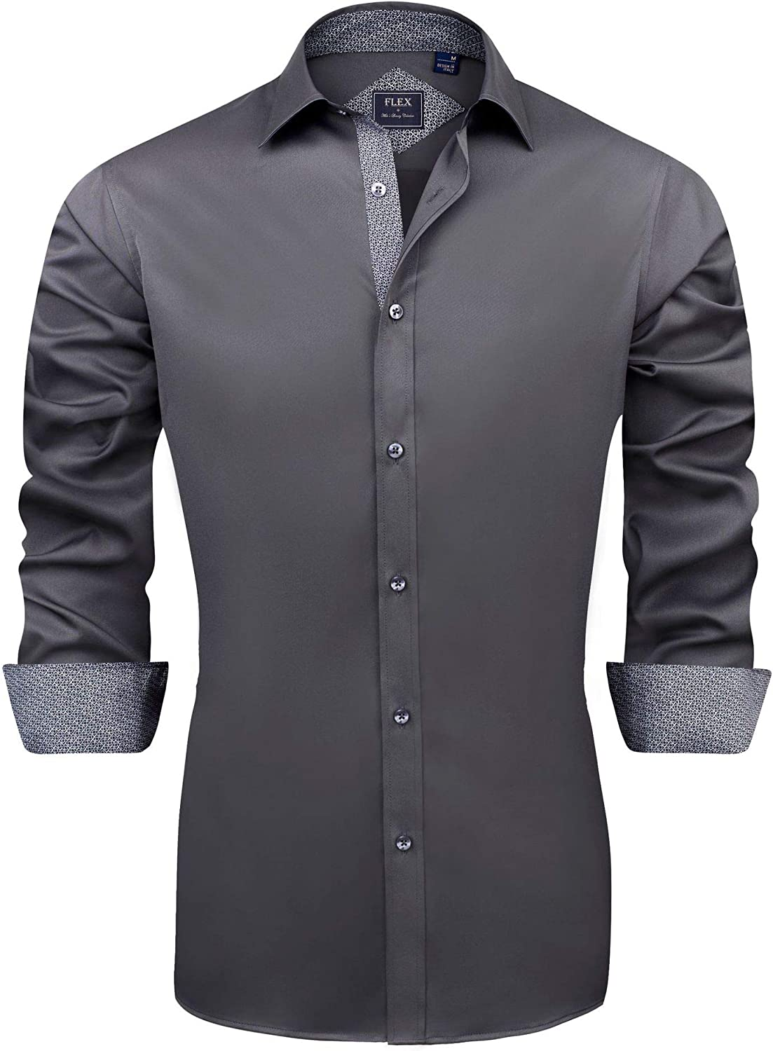 J.Ver Men's Special sale item Casual Long Ranking TOP17 Sleeve Stretch Shirt Dress Wrinkle-Free