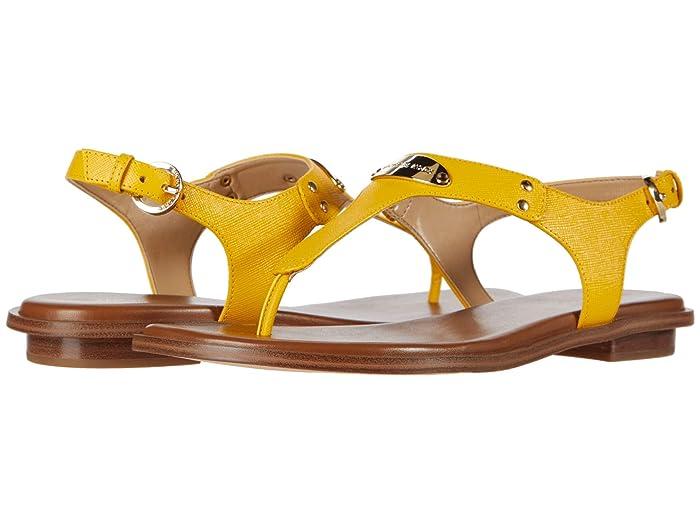 MICHAEL Michael Kors  MK Plate Thong (Sunflower) Womens Sandals