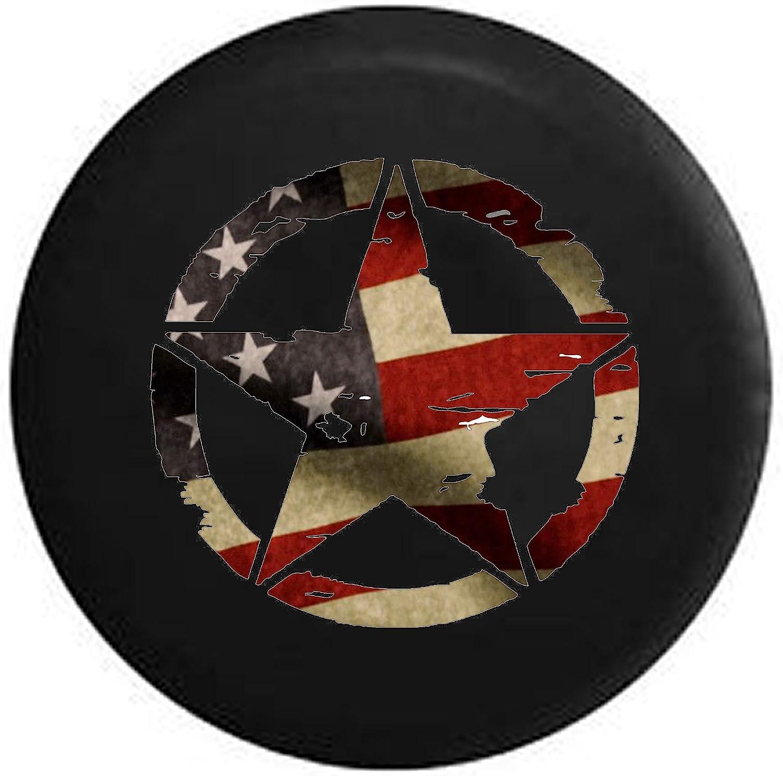 Washington Mall Spare Tire Cover Military Vintage American Fi Luxury Flag Star