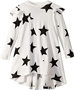 Ruffled Sleeve 360 Star Dress (Toddler/Little Kids)