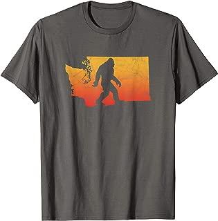 Squatchington! State of Washington Bigfoot Believer Graphic T-Shirt