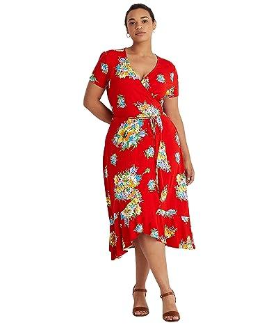 LAUREN Ralph Lauren Plus Size Floral Stretch Jersey Dress