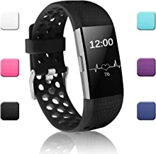 POY Replacement Bands Compatible for Fitbit Charge 2, Adjustable Breathable Wristbands with Air Holes Straps