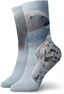 WEEDKEYCAT Polar Bear Husky Leopard Adult Short Socks Cotton Gym Socks for Mens Womens Yoga Hiking Cycling Running Soccer Sports